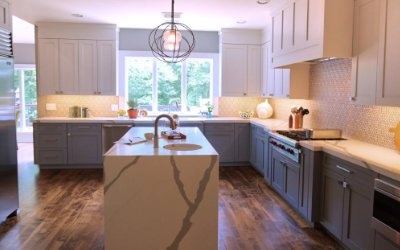 Two kitchens in Westchester