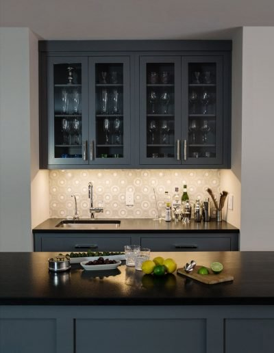 Home Bar and Entertainment area in Nyack by McManus Group