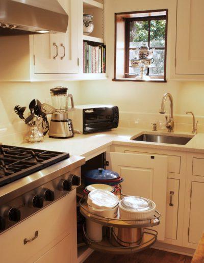 Tudor Home Small Kitchen Storage Solution