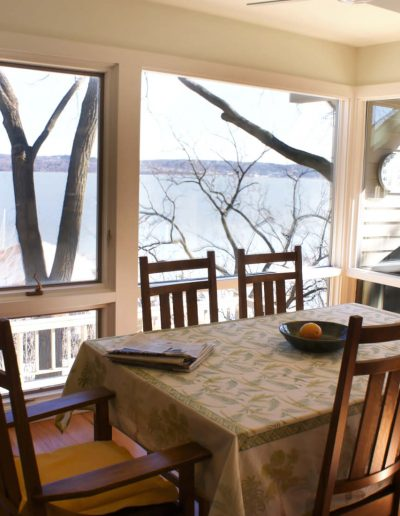 Informal Dining Table with Craftsman Chairs in a Nyack Home