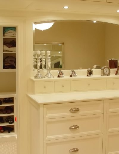 His and Hers dressers and wardrobe walk in closets