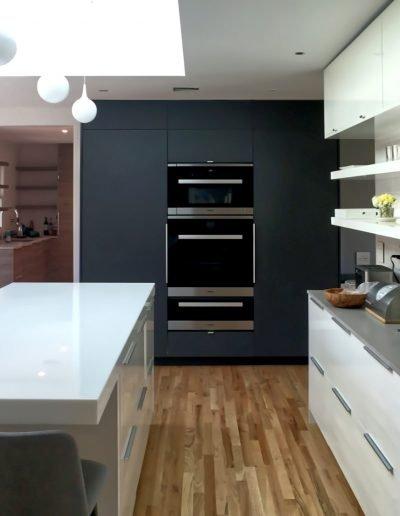 Designer kitchen with minimalist modern aesthetic in Nyack NY