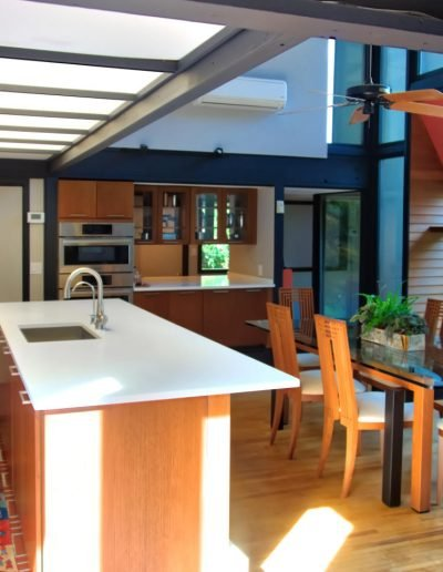 Modern open plan kitchen and dining room in Nyack NY